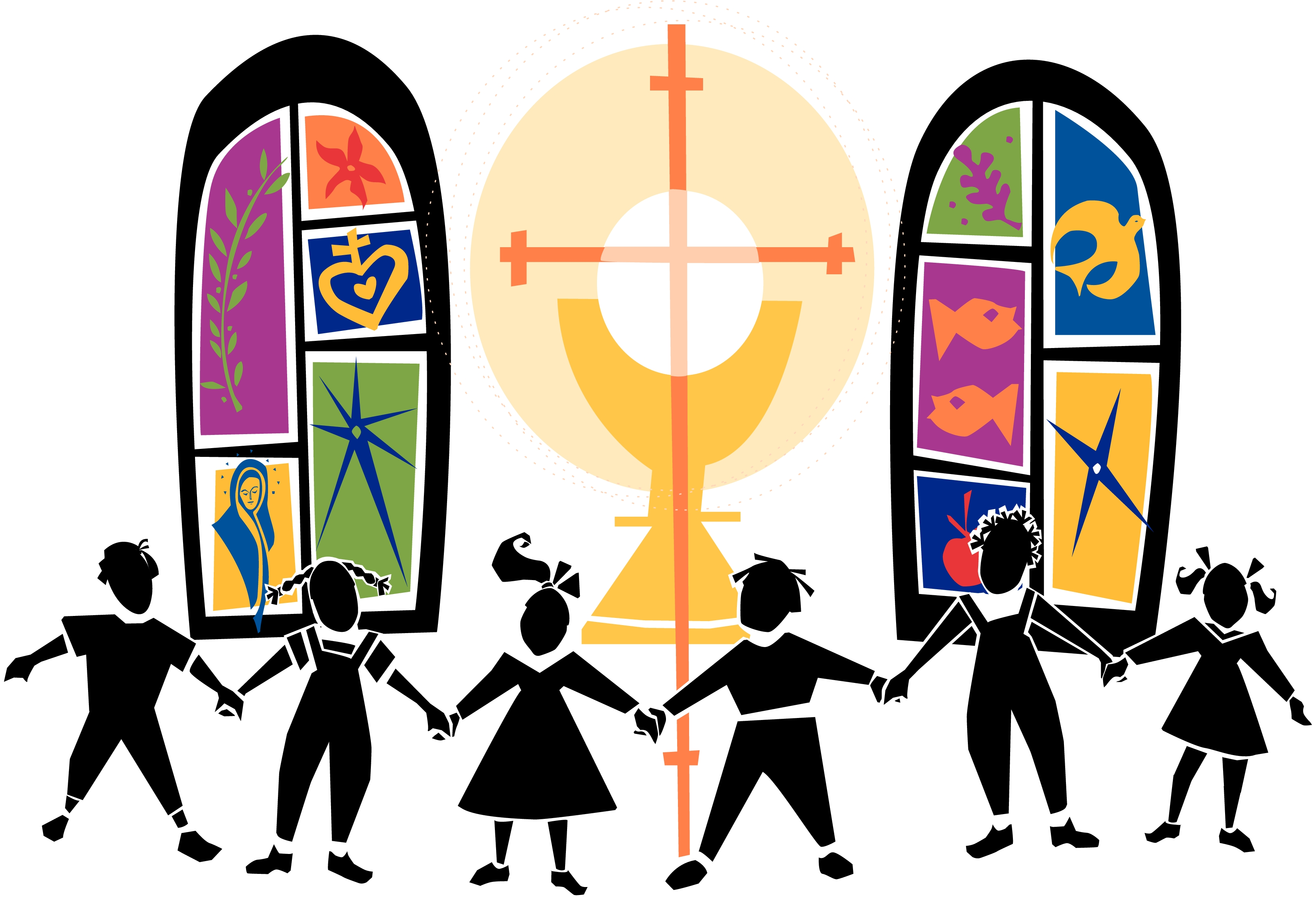 3300x2250 Church Family Clipart