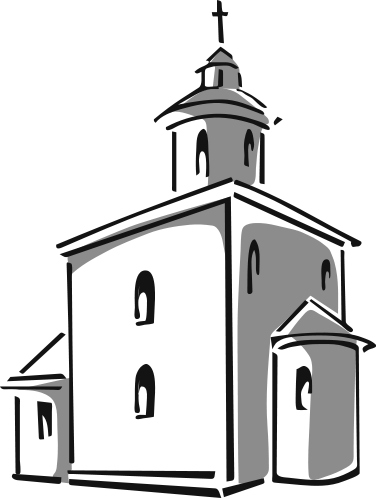 376x498 Church Building Clip Art Black And White