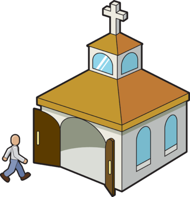 385x400 Image Going To Church Church Clip Art