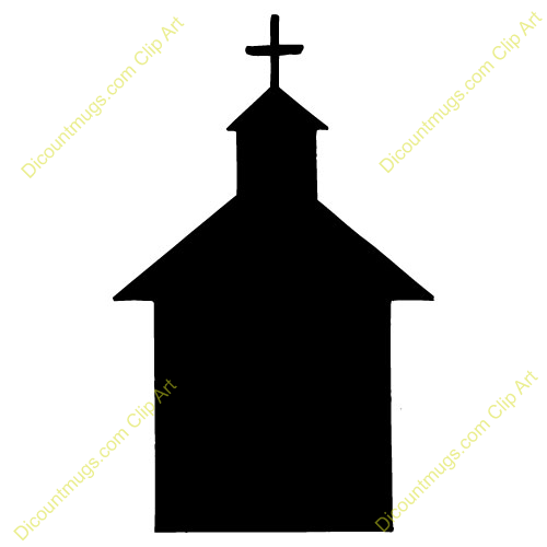 500x500 Silhouette Clipart Church