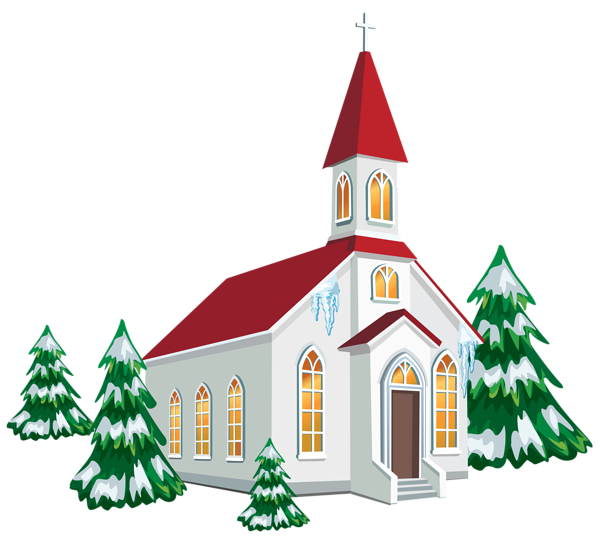 600x538 Winter Church With Snow Trees Png Clipart Image Clipart