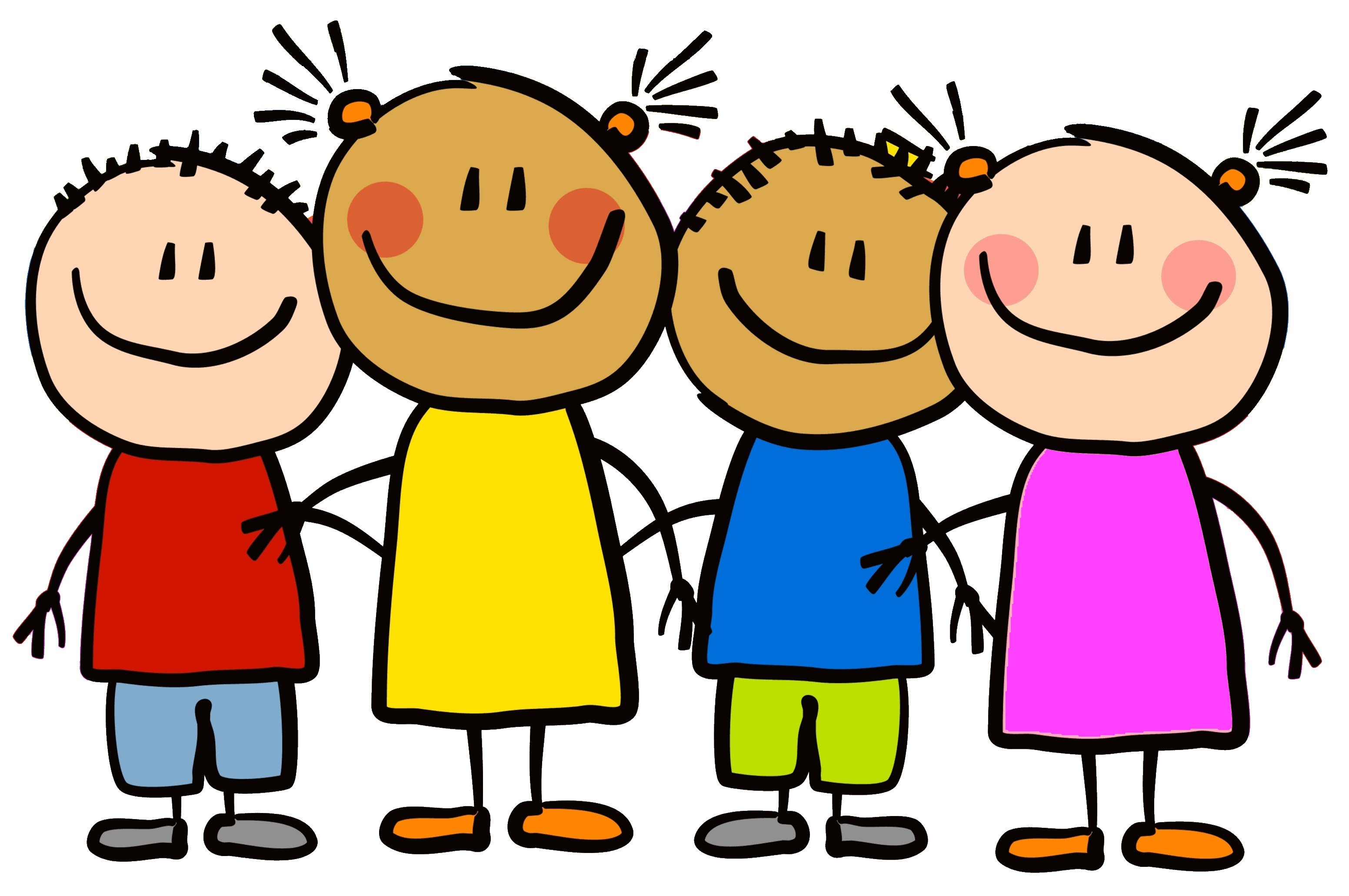 3103x2062 School Kids Clip Art