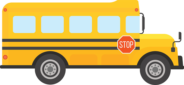 610x283 Bus Clipart School