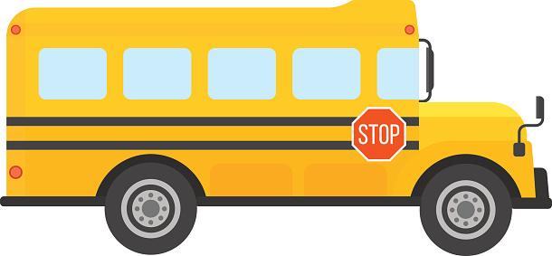 610x283 Bus Clipart School