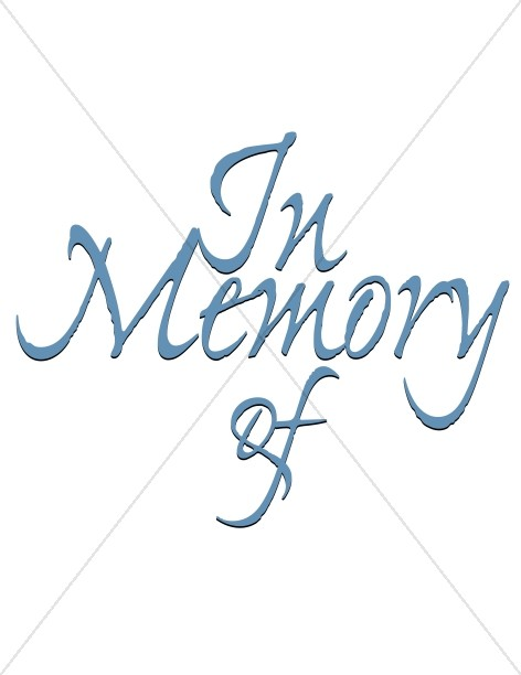 472x612 Memorial Title Church Memorial Clipart