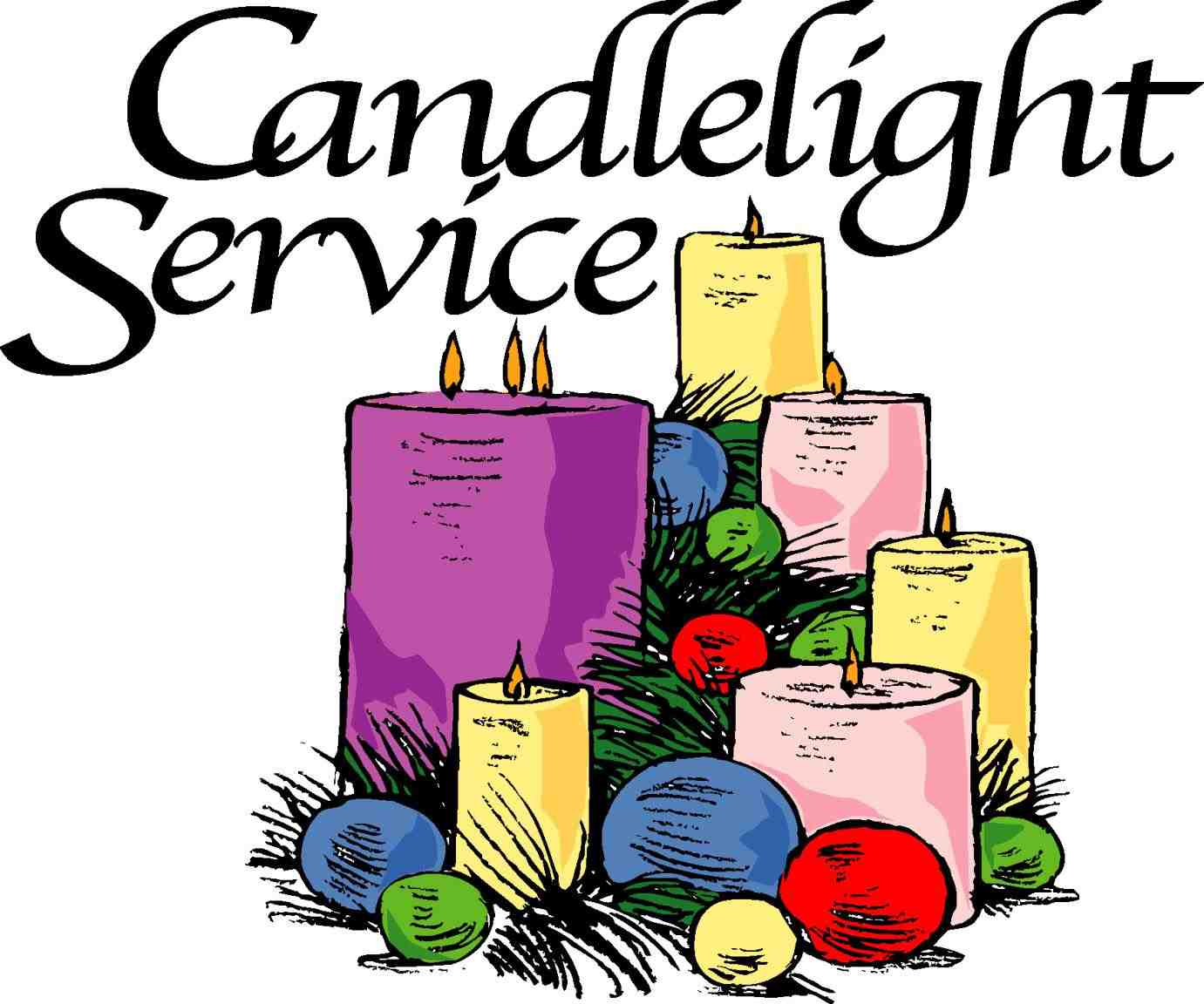 1381x1152 Candlelight Service Clipart