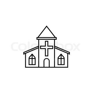 320x320 Church Icon. Outline Illustration Of Church Vector Icon For Web