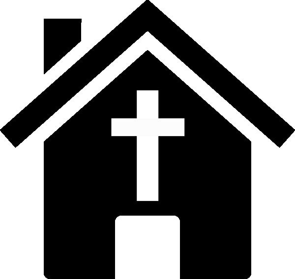 600x568 Black And White Church Clipart