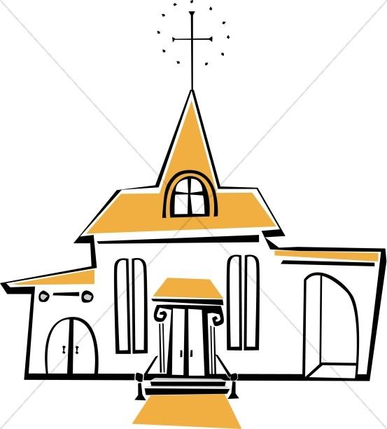 553x612 Joyful White And Yellow Church Church Clipart