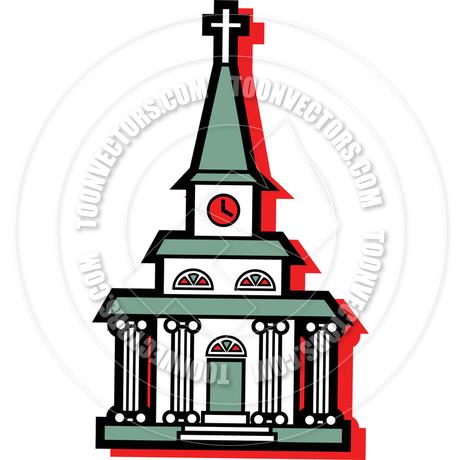 460x460 Cartoon Church Vector Illustration By Clip Art Guy Toon Vectors