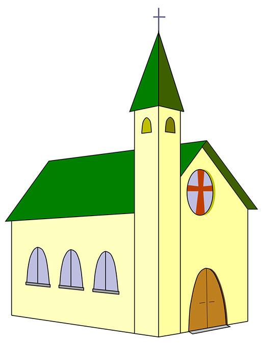 516x675 3d Clipart Church