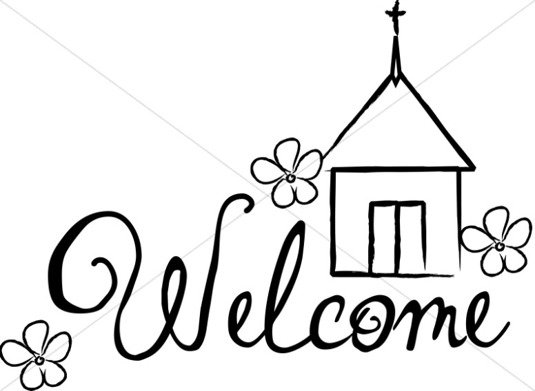 776x568 Sunday Service Welcome Sign Church Word Art