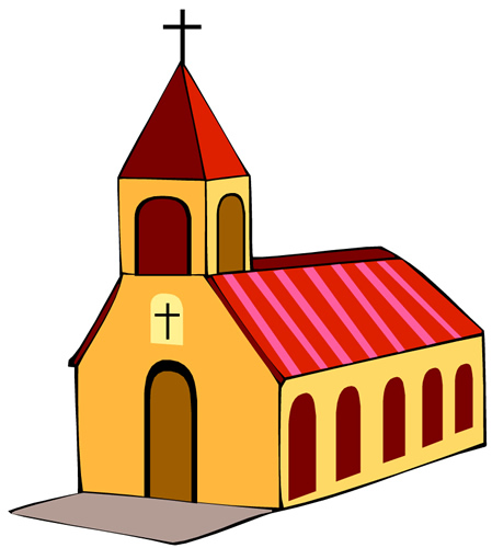 449x500 Christian Church Clipart
