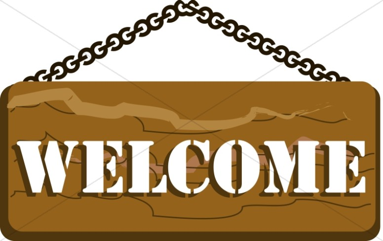 776x489 Church Camp Welcome Sign Church Word Art