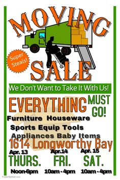 236x354 Garage Sale Poster