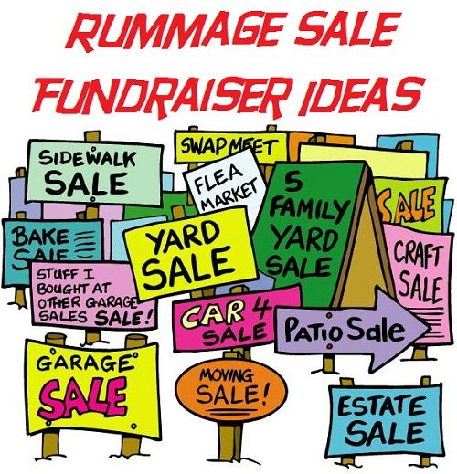 500x519 Rummage Sale Fundraiser Ideas Rummage Sale, Fundraising And Churches