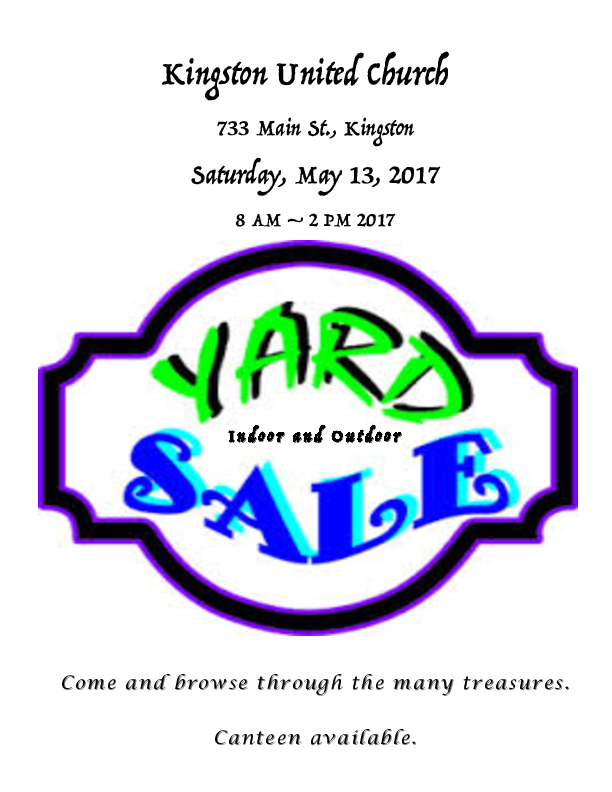 612x792 Church Yard Sale