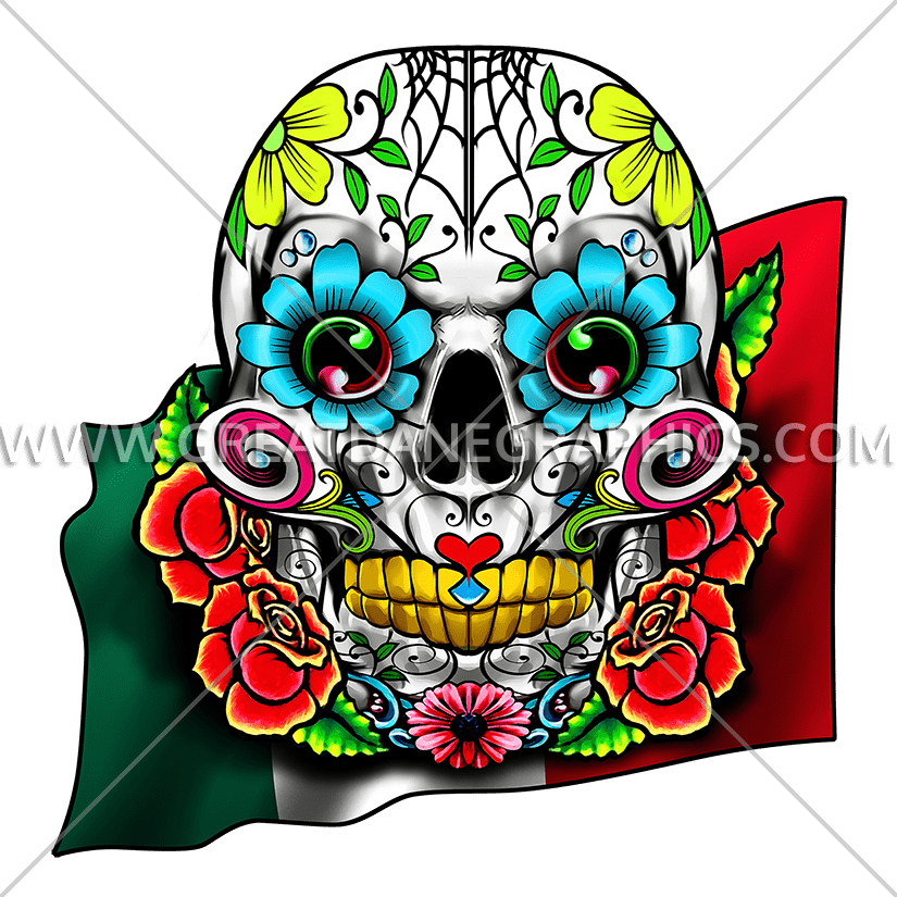 825x825 Skull Cinco De Mayo Production Ready Artwork For T Shirt Printing