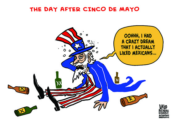 555x388 Cartoon Cinco De Mayo Hangover