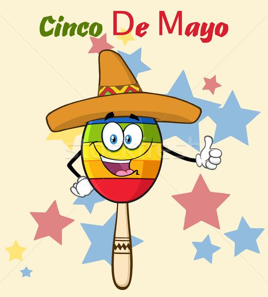 541x600 Happy Colorful Mexican Maracas Cartoon Mascot Character