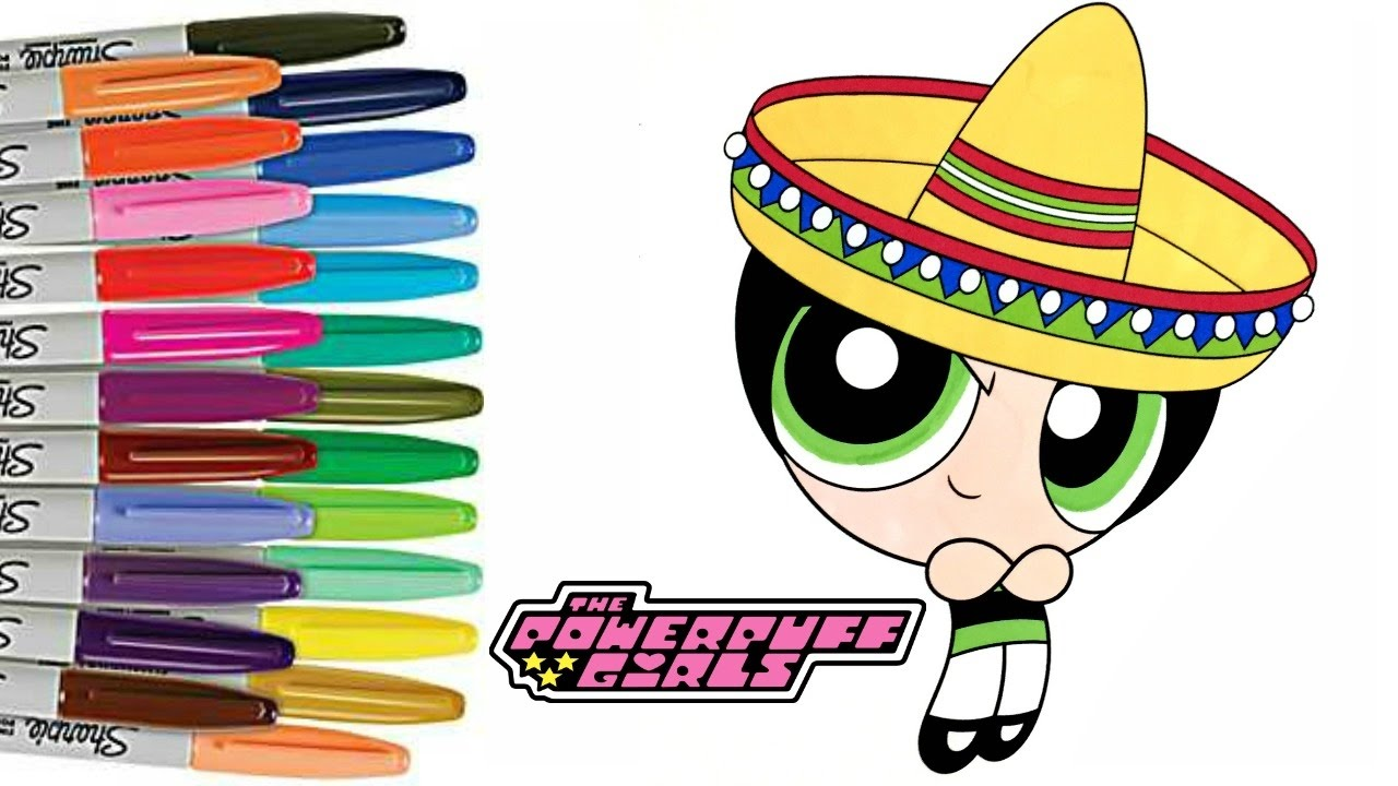 1280x720 Powerpuff Girls Coloring Book Page Cinco De Mayo Ppg Buttercup