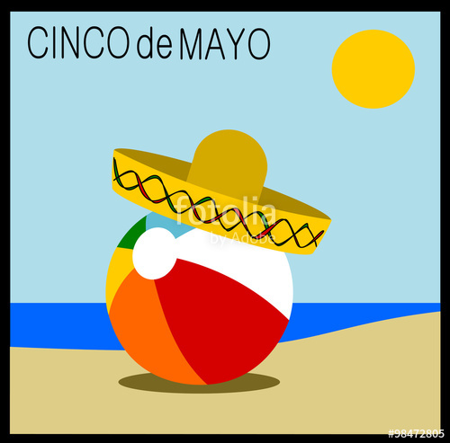 500x493 Cinco De Mayo (5th Of May) Holiday Graphic Design With Sombrero