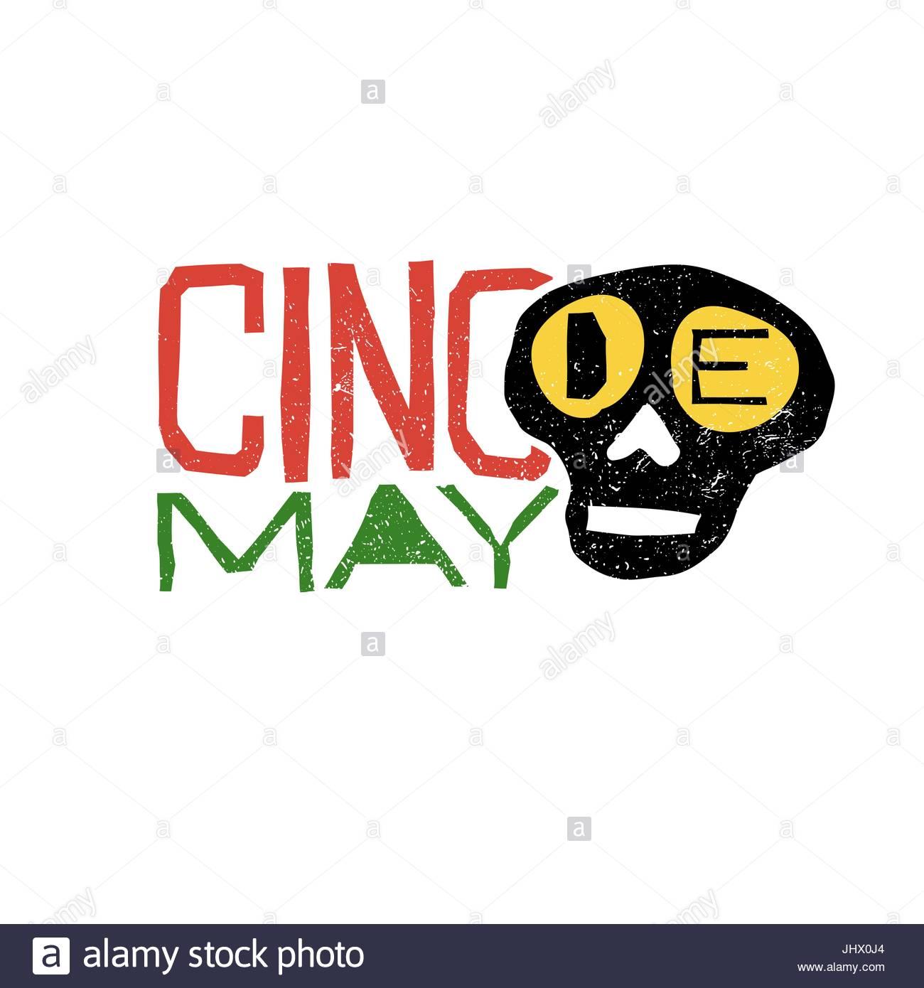 1300x1390 Cinco De Mayo Typography. Cinco De Mayo Holiday Logo Stock Vector