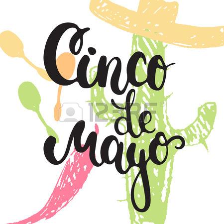 450x450 A Mexican Cinco De Mayo Label Sign Decal Design With Sombrero
