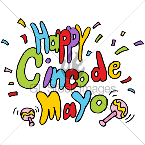 500x500 Happy Cinco De Mayo Text Message Gl Stock Images