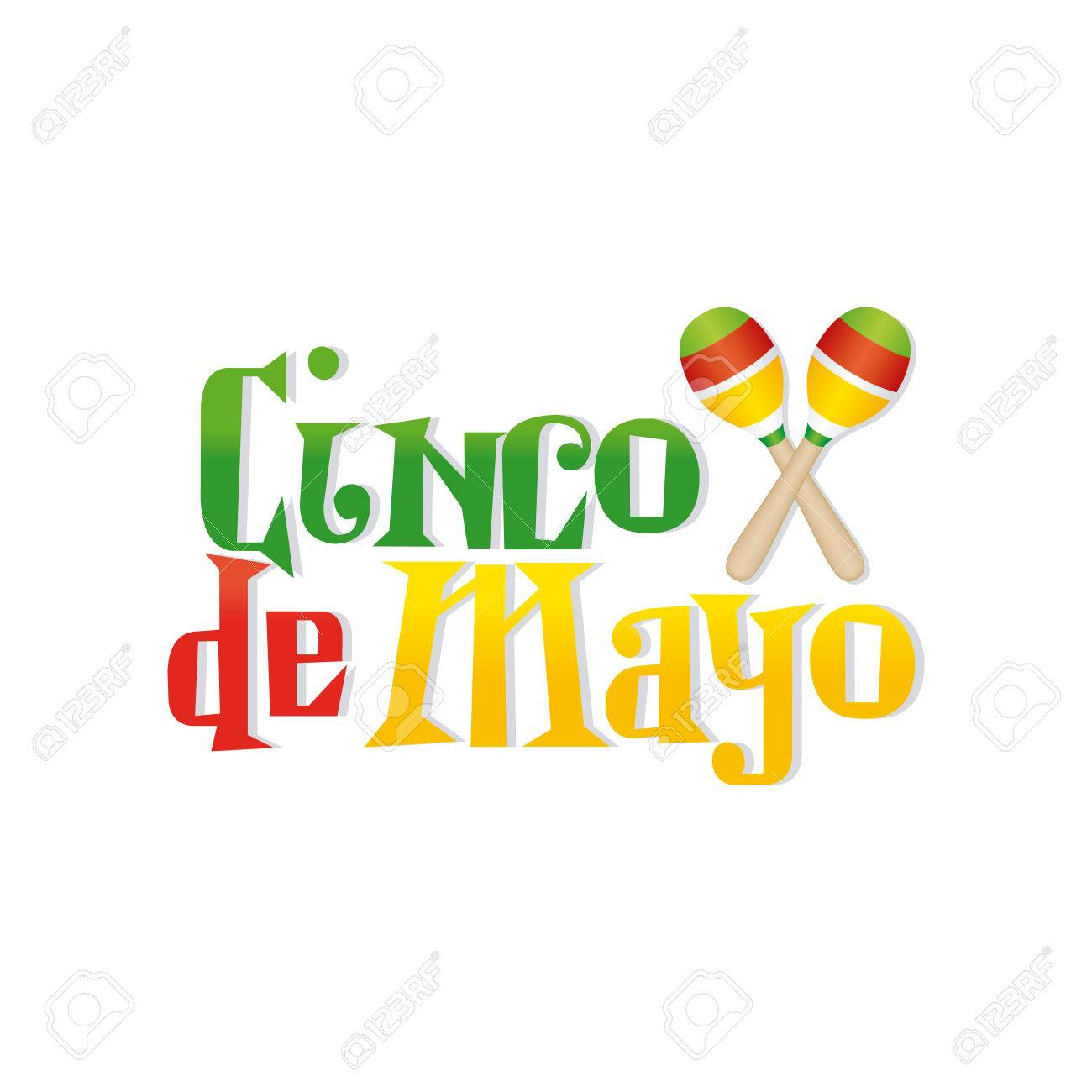 1300x1300 White Background With Text And Maracas For Cinco De Mayo