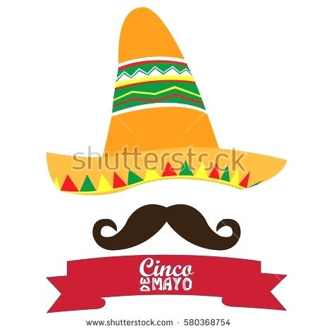 450x470 Cinco De Mayo Hats Isolated Hat And A Mustache Mayo Vector