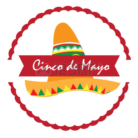 450x450 Isolated Label With A Traditional Hat, Cinco De Mayo Vector