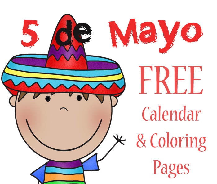 700x596 Free 5 De Mayo Calendar And Coloring Pages