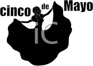 300x213 Black Silhouette Of A Woman Celebrating Cinco De Mayo