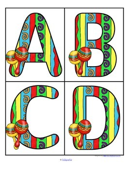 270x350 Cinco De Mayo Large Alphabet Letters Flashcards Free By Kidsparkz