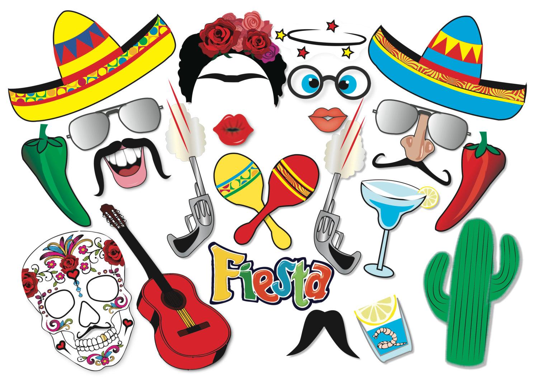 1500x1060 Cinco De Mayo Mexican Fiesta Party Photo Booth Props Set 22