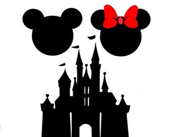 340x270 Mickey Castle Svg, Disney Svg, Mickey Svg, Mickey Head Svg, Mickey