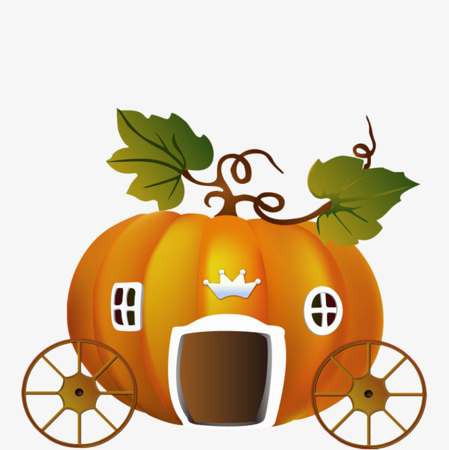 650x651 Cartoon Pumpkin Carriage, The Pumpkin Carriage, Cinderella