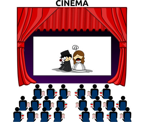 500x422 136 Cinema Free Clipart Public Domain Vectors