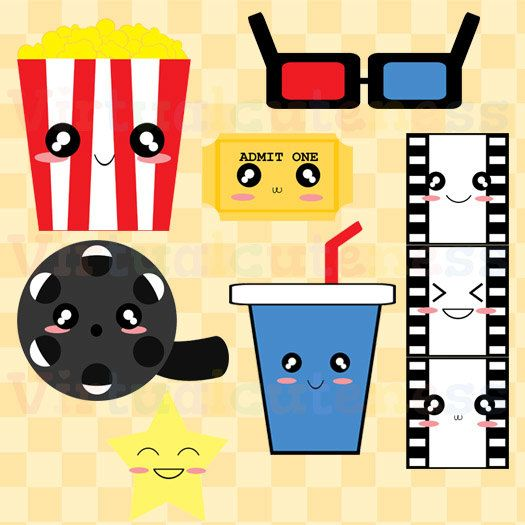 525x525 Movie Clipart Cute