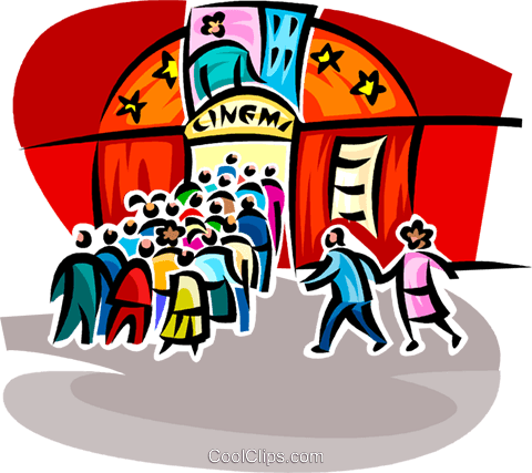 480x427 Cinema Royalty Free Vector Clip Art Illustration Vc062584
