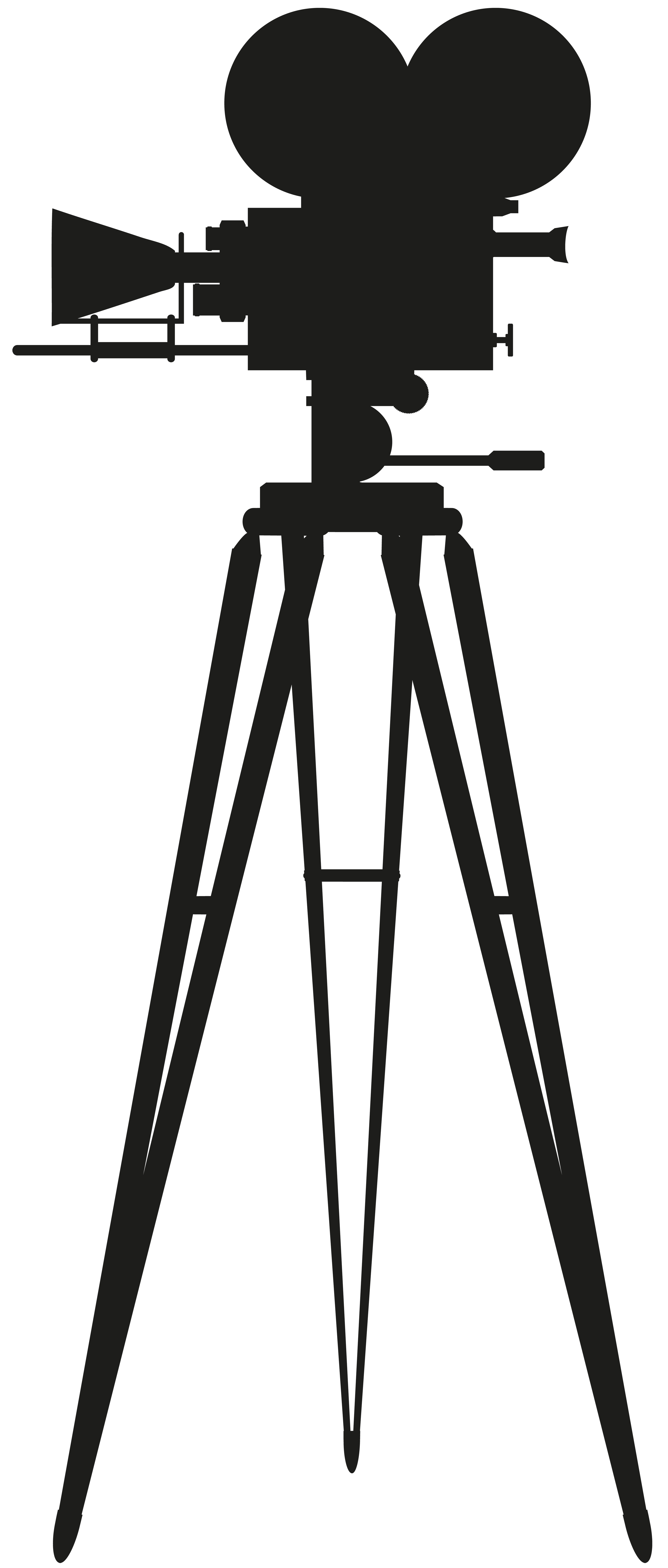 3408x8000 Cinema Camera Silhouette Png Clip Art