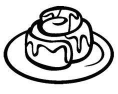 236x188 Cinnamon Roll Chocolate Coloring Page Cookie