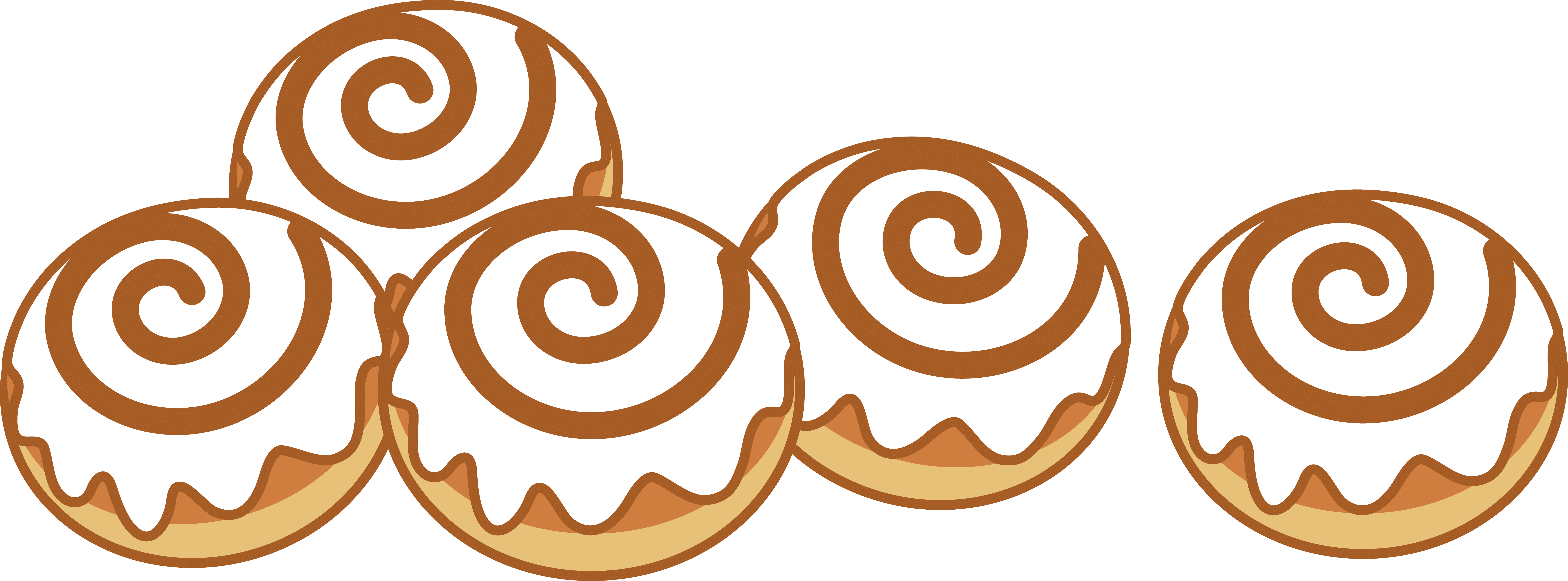 7272x2694 Cinnamon Roll Cliparts