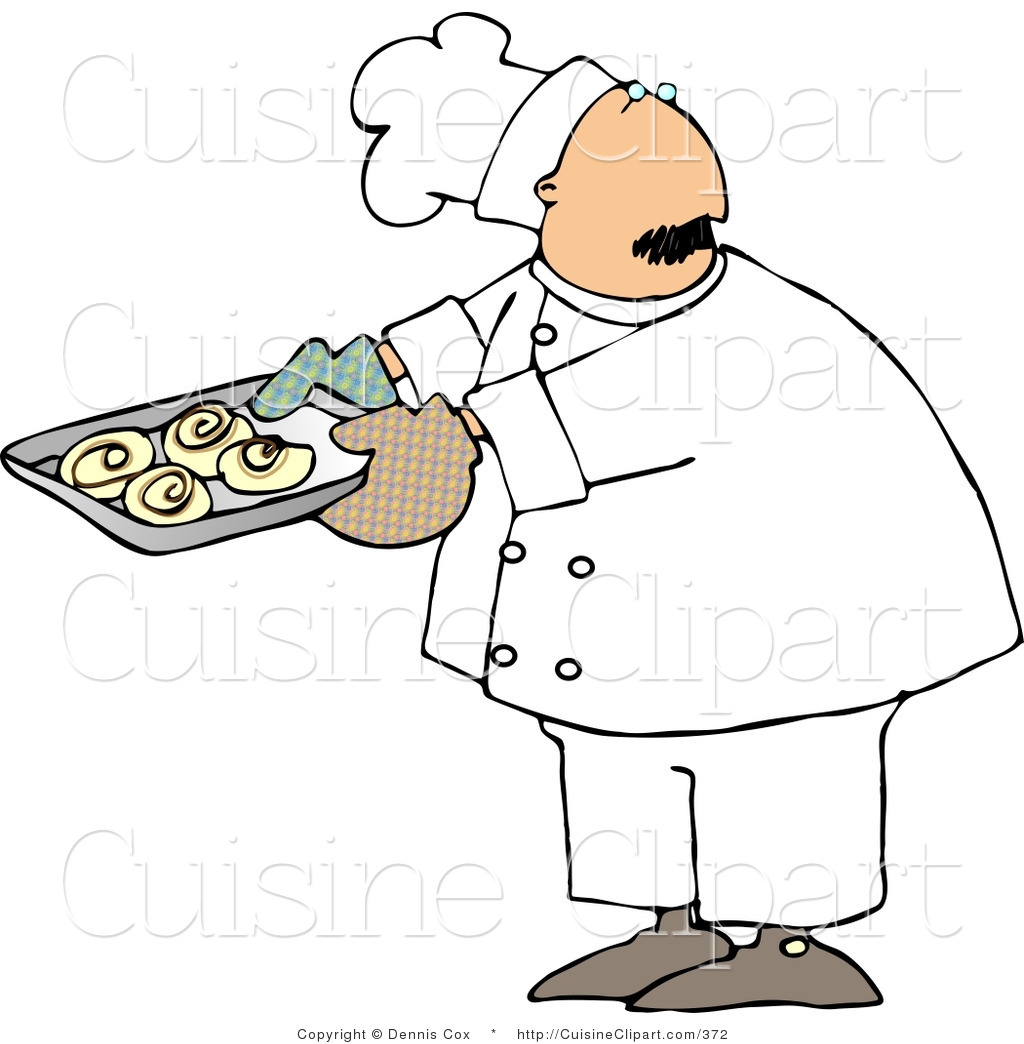 1024x1044 Cuisine Clipart Of A Baker Looking Over His Shoulder While Holding