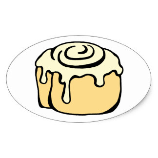324x324 Cartoon Cinnamon Bun Stickers Zazzle