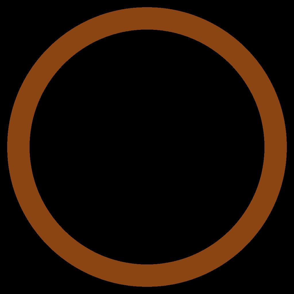1024x1024 Circle Clipart Brown