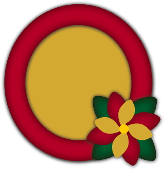 340x350 Christmas Photo Frame Circle Clip Art