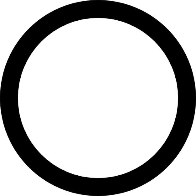 626x626 Black Circle On White Icons Free Download