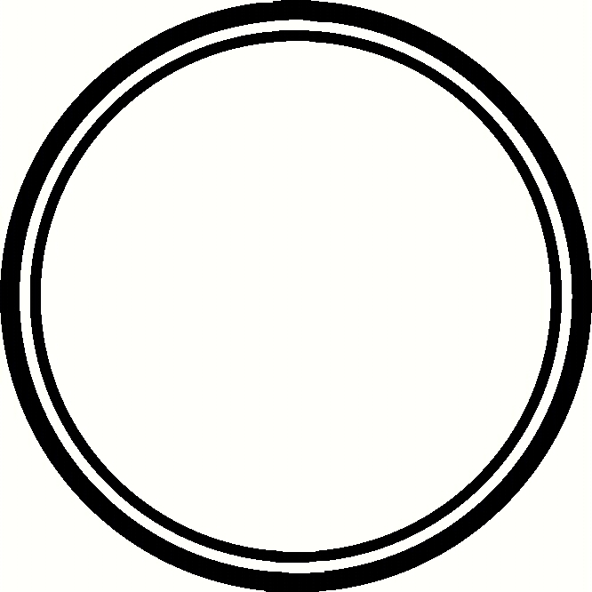 666x666 Circle Clipart Black And White